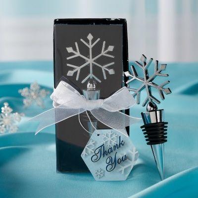 Snowflake Bottle Stopper Guest Favor | Bottle Stopper Wedding Favors