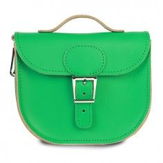 Brit-Stitch The Half Pint Emerald Green Shoulder Bag