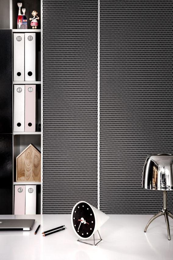 Raumplus, drzwi S1200 wykończenie tkanina marki Kvadrat