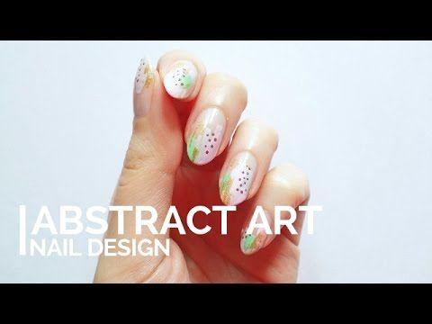 Abstract Art Nail Design - YouTube