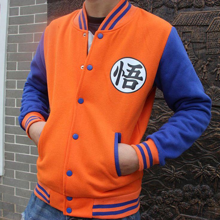 PureBliss long sleeve anime Dragon ball Z jacket goku baseball jacket