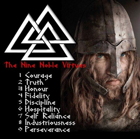 Witchcraft, Paganism & Wiccan -  (Valknut, symbol for warrior who has passed on