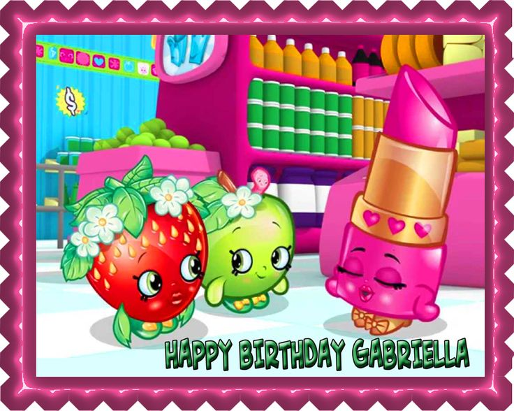 E-Cake-Image (ECI) - SHOPKINS 1 Edible Birthday Cake Topper OR Cupcake Topper, Decor, $7.95 (http://ecakeimage.com/shopkins-1-edible-birthday-cake-topper-or-cupcake-topper-decor/)