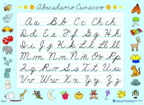abecedario letra cursiva para imprimir - ALOjamiento de IMágenes