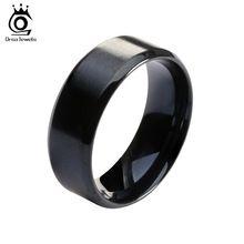 2016 Nueva Moda de Acero de Titanio Anillos de Boda Anillo de Titanio Negro de Alta Calidad para Hombres y Mujeres OTR23(China (Mainland))