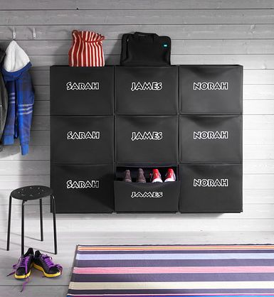 BrightNest | An Organization Powerhouse: IKEA Trones - Would this work for Shoe Storage in my closet?  hanging up?  Perhaps?