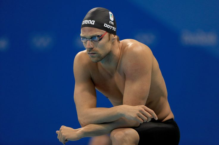 Luca Dotto of Italy looks on prior to the second Semifinal of the Men's 50m Freestyle on Day 6 of the Rio 2016 Olympic Games at the Olympic Aquatics Stadium on August 11, 2016 in Rio de Janeiro, Brazil.