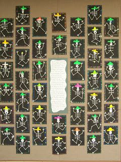 """Sub out the q-tips for oil pastels. WHAT'S HAPPENING IN THE ART ROOM??: 2nd GRADE--""""Day of the Dead"""""""