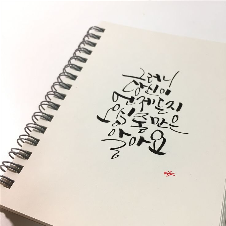 korean calligraphy  on the mini note  #kuretake