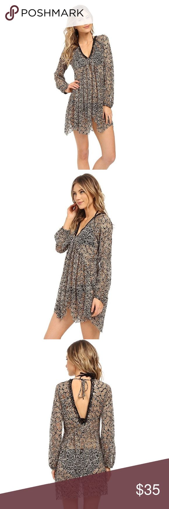 BECCA Coverup This is brand new, with tags, Mother Earth Long Sleeve Tunic. It is a perfect beach cover up for the summer! It is a M-L size. BECCA Swim Coverups