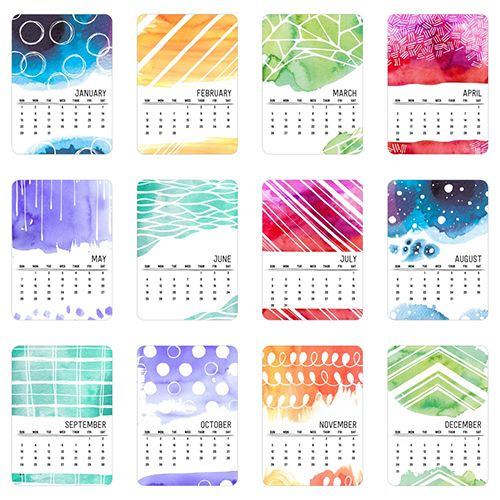 Watercolor Patterns Easel Calendar by Yours Truly | Shutterfly