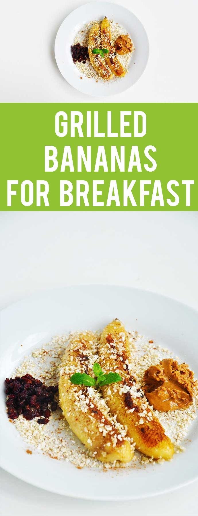 Grilled bananas - This is the best sweet breakfast you will ever make! It's ready in 5 minutes and has everything a healthy breakfast should have!