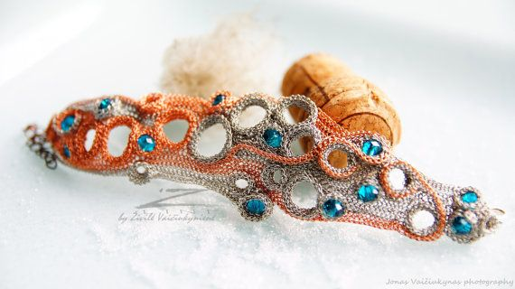 Hand crocheted bracelet made by Zivile Vaiciukyniene  by ZetLine