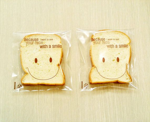 50 Smile Print self sealing Cello bags   Large size by fromsoul, $4.00