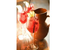 Jose Garces' Spiced Cranberry Sangria : This seasonal treat was such a hit at his restaurant, Amada (Philadelphia), that Iron Chef Garces brought the cocktail home to his own Thanksgiving table as well. Macerated cranberries deliver a