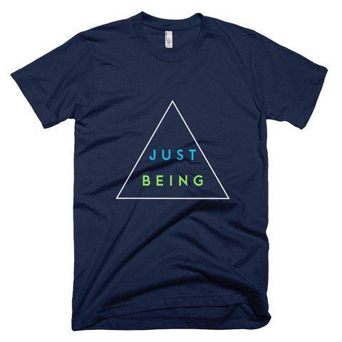 Inspire Goods Just Being Men Short Sleeve T-Shirt - Navy
