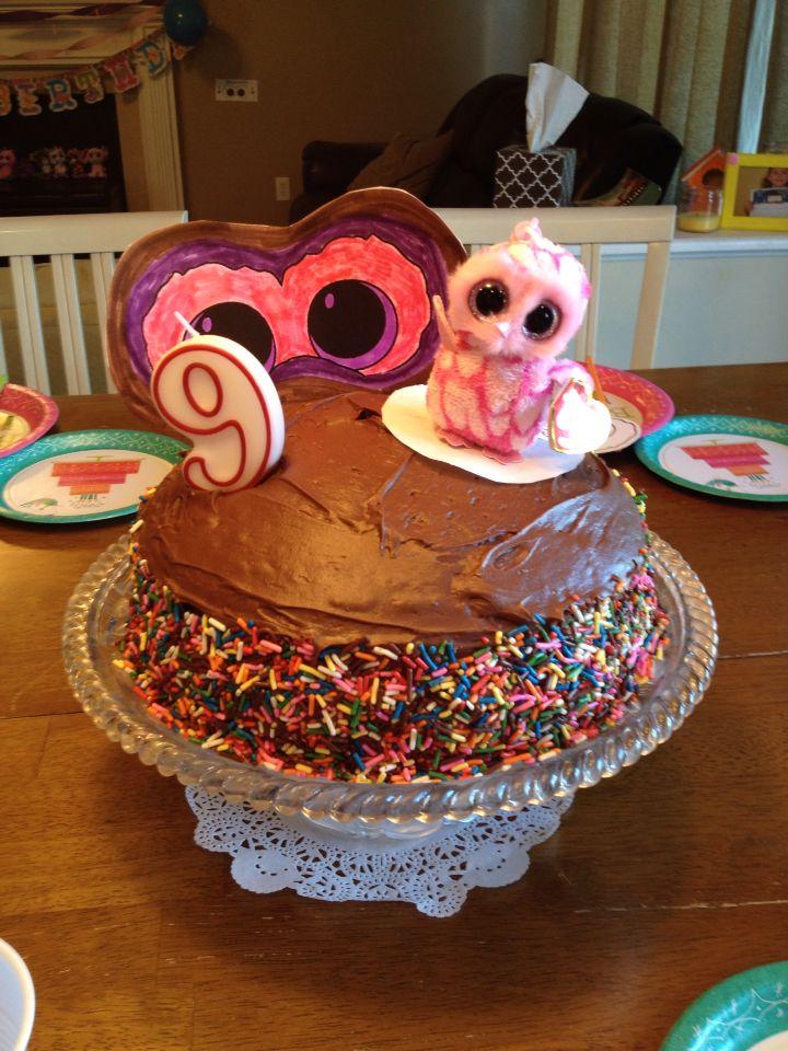 Beanie Boo Birthday Cake Easy Cute Treats Pinterest