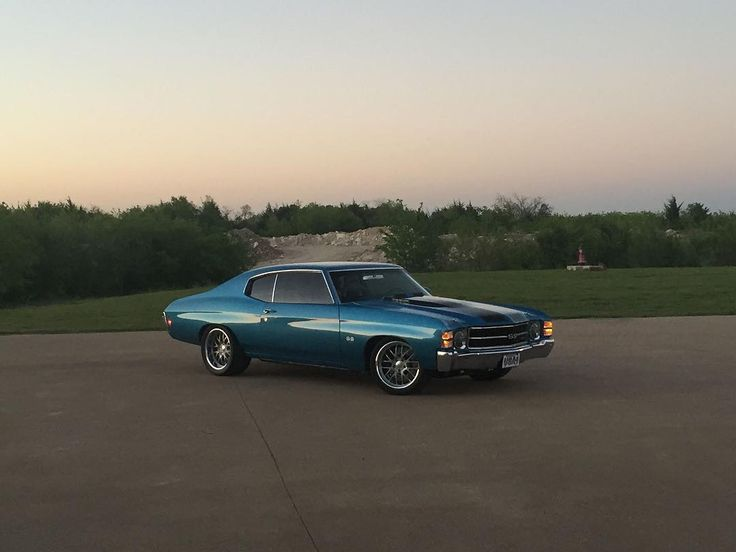 72 chevelle #BecauseSS blue with mesh wheels