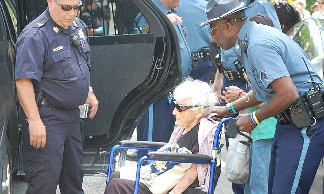 Woman, 98, arrested for protesting MA natural gas pipeline | Daily Mail Online