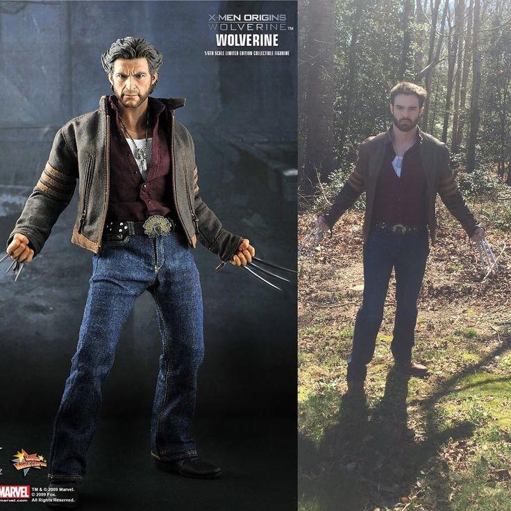 #wolverine #logan #xmen #cosplay #marvel #marvelcosplay #marvelcomics #xmencosplay #adamantiumclaws #xmenoriginswolverine #woods #leatherjacket #steel #stainlesssteel #superhero #superheroes #beard #hughjackman #jeans #dogtags #hottoys #mutant