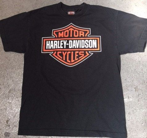 Vintage Harley Davidson T-Shirt size S, Paint screen printed.
