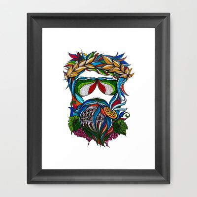 Rome+Man+Framed+Art+Print+by+Lera+Razvodova+-+$35.00
