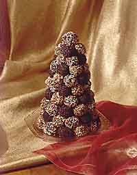 chocolate truffle treeChristmas Food, Chocolates Truffles, Christmas Crafts, Christmas Helpful, Decadent Truffles, Holiday Ideal, Christmas Holiday, Chocolates Helpful, Parties Food Appetizers
