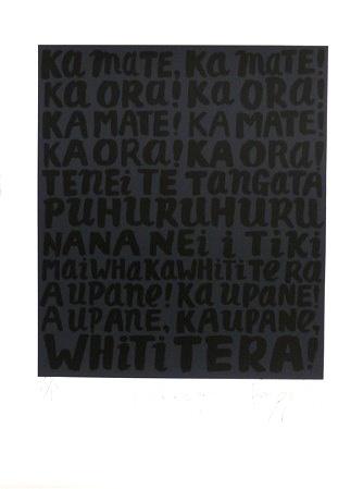 'Haka Lyrics' 2010 Dick Frizzell