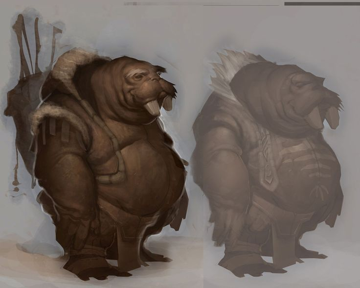 video game concept aRT   Tuskarr Concept Art - World of Warcraft: Wrath of the Lich King