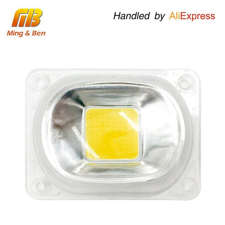 [MingBen] 1 zestaw LED COB Chip + Lens Reflektor 230 V 110 V 20 W 30 W 50 W Na CZELE powódź Światło spotlight DIY Potrzebują Radiatora do Chłodzenia