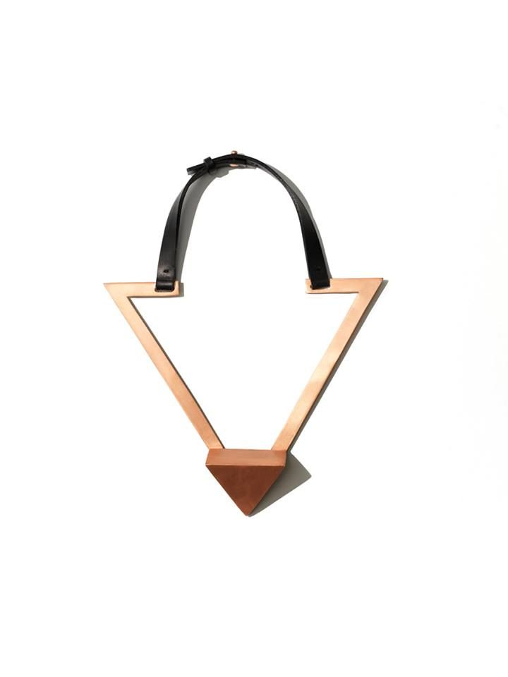 persephoni triangle necklace