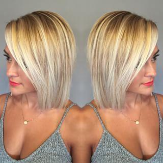 Mittlere Bob-Frisuren für feines Haar #WomensHaircutsToShowYourStylist