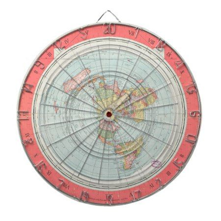 Gleason's NEW STANDARD MAP OF THE WORLD Dart Board - tap, personalize, buy right now!