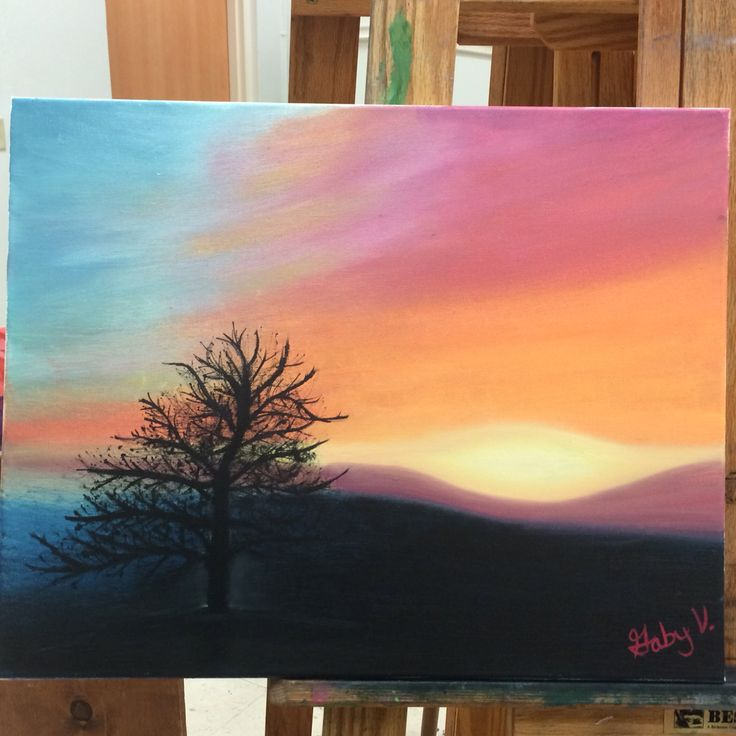 Landscape project 2 #oil #paints