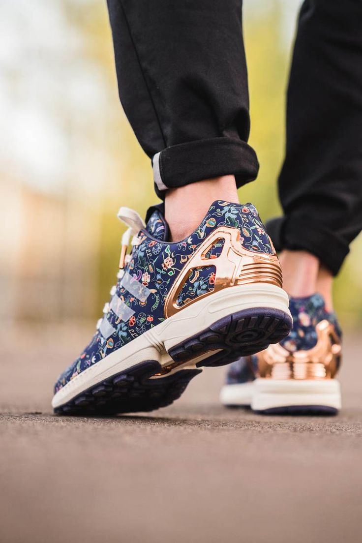 Adidas Zx Flux Flowers Black And White