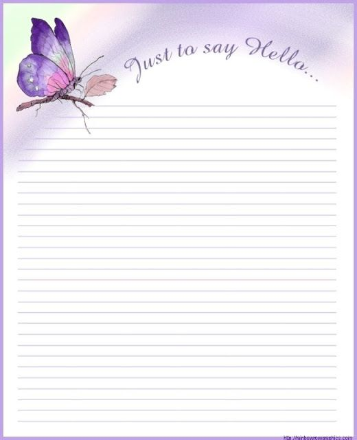 lined stationery