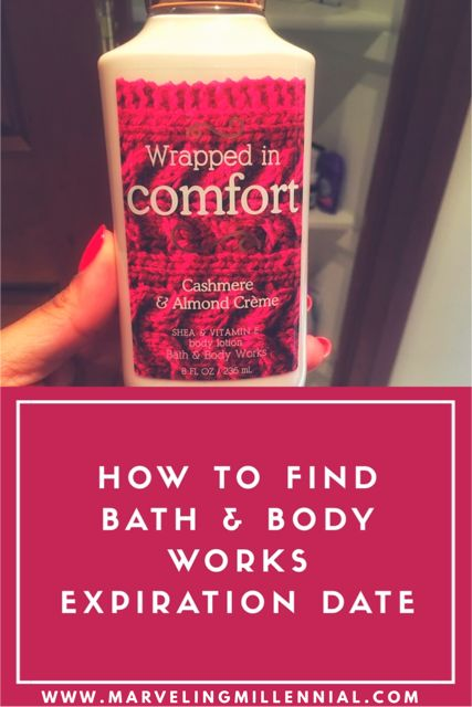 The easiest way to find Bath and Body Works lotion and body spray expiration dates! #bathandbodyworks #bath #lotion #smellgoods #selfcare