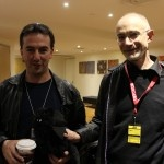 Joel Shepherd and Sean McMullen with Edgar Allan Purr http://www.darkmatterfanzine.com/dmf/continuum-9-sunday-two-book-launches-art-and-more/