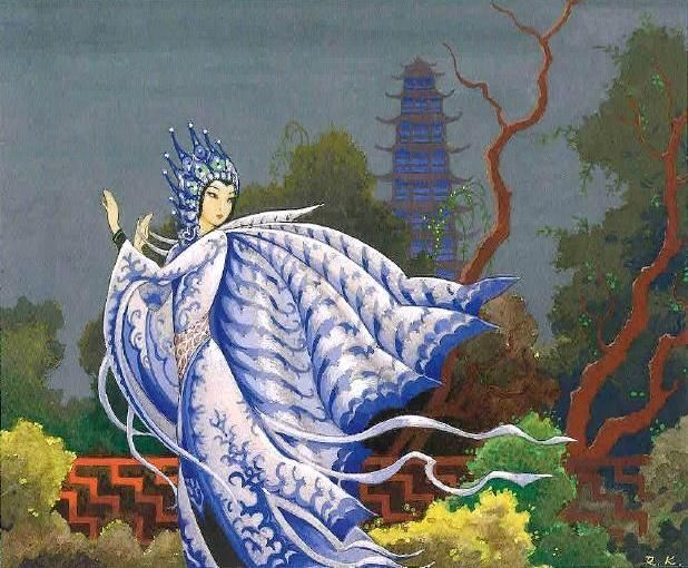 kidpix: Rudolf Koivu - Chinese princess and glass pagoda