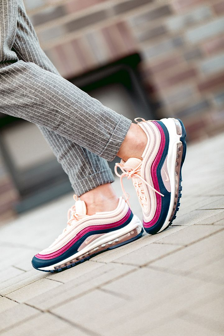 Details about Nike Air Max 97 Shoes Crimson TintPlum BlueWhite 921733 802