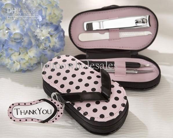 Lastest Fashion Vouge Cute Pink Pink Polka Purse Slippers Manicure Sets Pedicure for Wedding Bridal Festival…