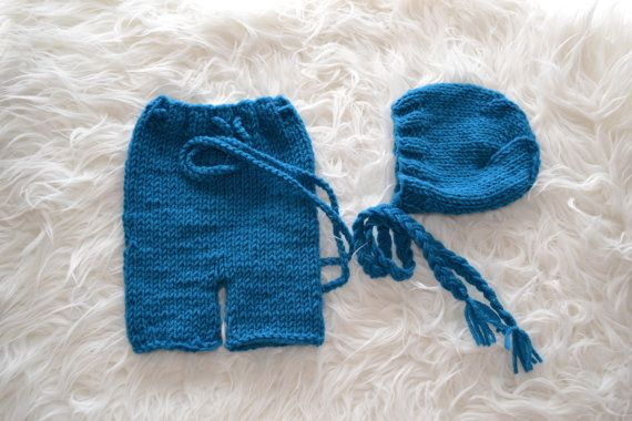 Newborn Set Newborn Short Pants Newborn Hat by knitbabyclothes, $35.00