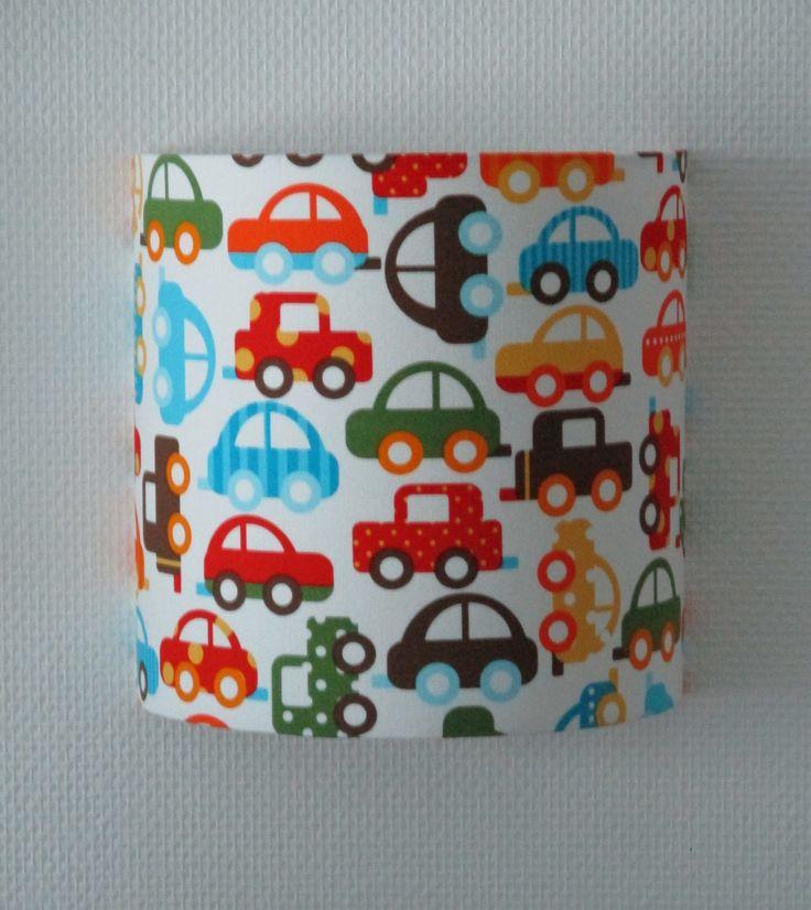 Applique luminaire petites voitures multicolores : Décoration pour enfants par anne-claude-c