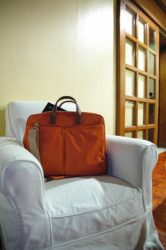 laptop bag. Laptops are expensive but very mobile and usefull...