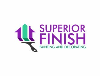 Superior Finish Painting and Decorating logo design concepts #15