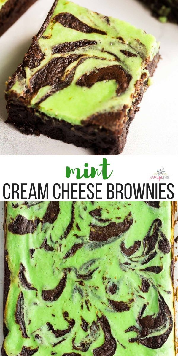 These Mint Cream Cheese Brownies Are A Favorite Christmas Dessert