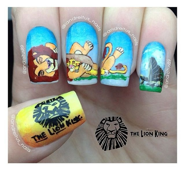The Lion King manicure