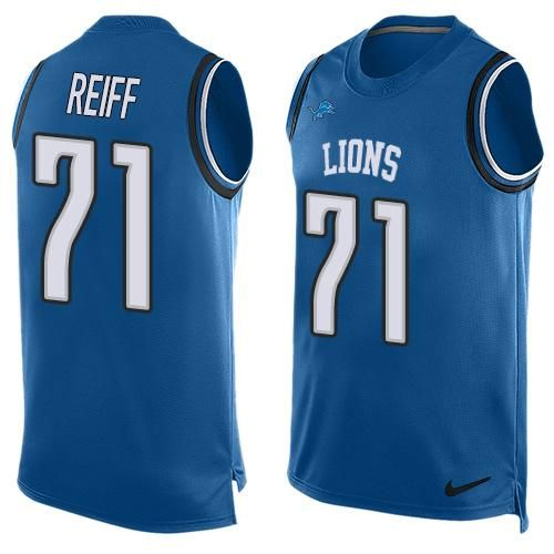 nike lions marvin jones jr blue team color mens stitched nfl limited tank top jersey and jersey number font