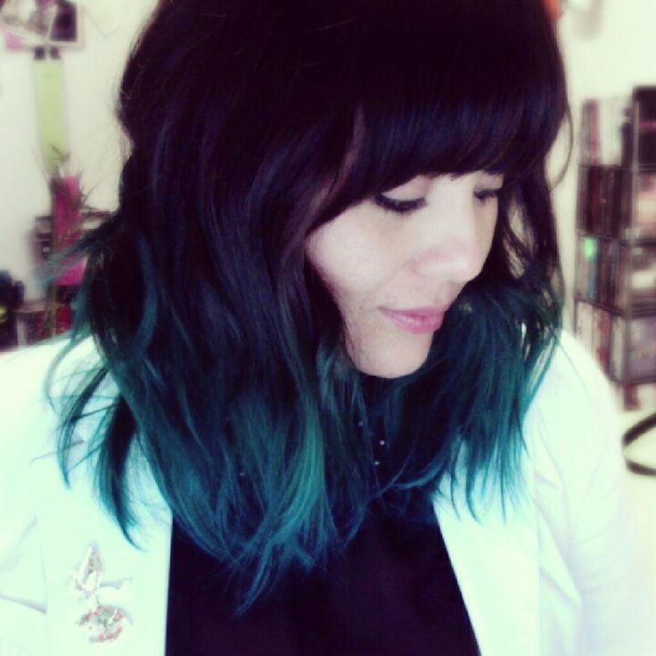 black to turquoise ombre hair - photo #22