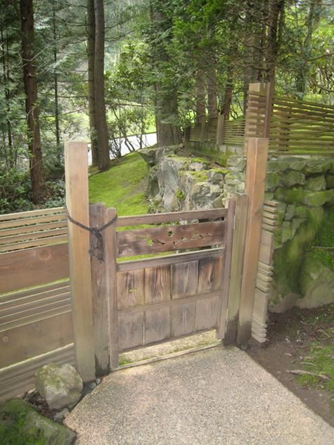 Japanese Garden Fence Design bamboo post rail fence Find This Pin And More On Japanese Gardens